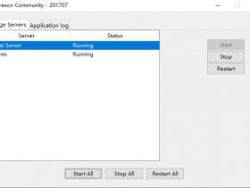 Windows系统下alfresco系统启动窗口中服务不见如何解决?